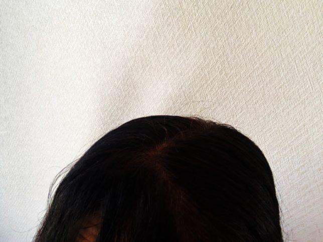 LPLPで染めた後の髪の毛